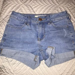 Women's Pacsun light blue washed jean shorts